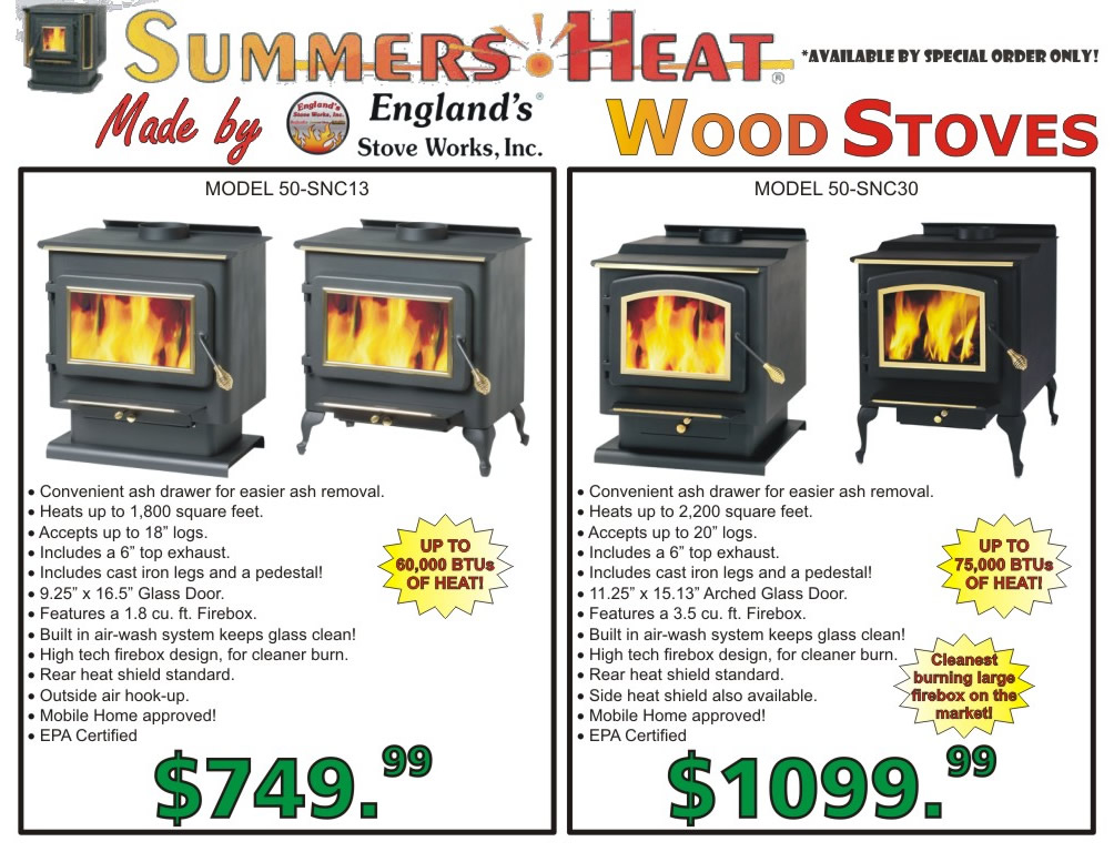 Summers Heat Wood Stove WB Designs - Summers Heat Wood Stove WB Designs
